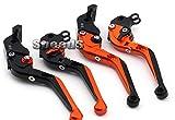 SPEEDS Motorrad Faltbare und Ausziehbare Brems-und Kupplungshebel Bremshebel Kupplungshebel Set für KTM 990 SMT 2009-2013 KTM 990 Supermoto R 2008-2012