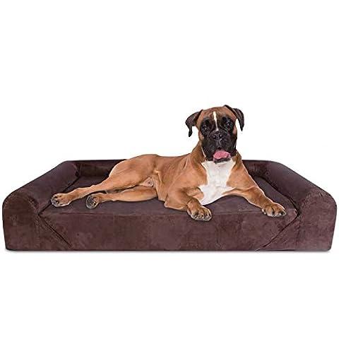 KOPEKS Deluxe Extra Large Dog Sofa Bed Lounge with Orthopaedic Memory Foam 127 x 85 x 25 cm - XL -
