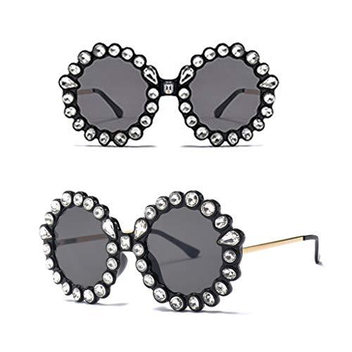 lzf1110 Runde Sonnenbrille Strass Rahmen Klassische Trend Mode Charme Metall Luxus Persönlichkeit Party Sonnenbrille Damen Und Damen Dekoration