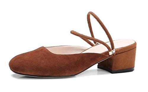 Frau Matte Sommer Sandalen und Pantoffeln Frauen Hausschuhe Brown