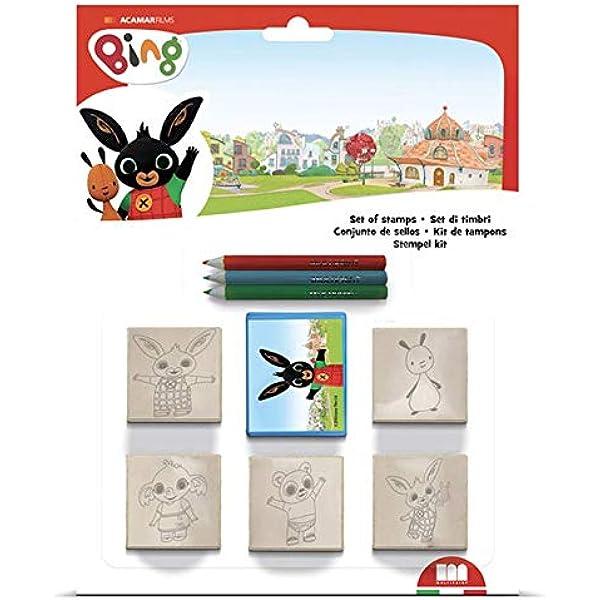 Set Timbrini Bimbi Personalizzati 100/% Made in Italy Art.26978 Multiprint Blister 2 Timbri per Bambini Pop Unicorns Idea Regalo Inchiostro Lavabile Atossico in Legno e Gomma Naturale
