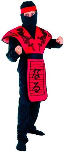 Generique - Rotes Ninja-Drachen Kostüm für Jungen 122/134 (7-9 Jahre)
