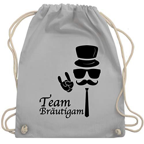 Kostüm Bro Gym - JGA Junggesellenabschied - Team Bräutigam Hipster Suit up - Unisize - Hellgrau - WM110 - Turnbeutel & Gym Bag