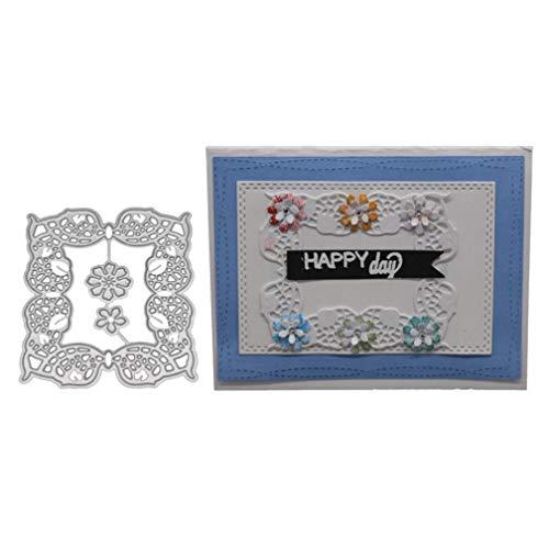 YunYoud Branch Flower Embossing Metal Steel Cutting Dies Stencils DIY Scrapbooking Craft New Heart Album Paper Card Leaves Decor Cards Stencil Klassische Puzzle Form