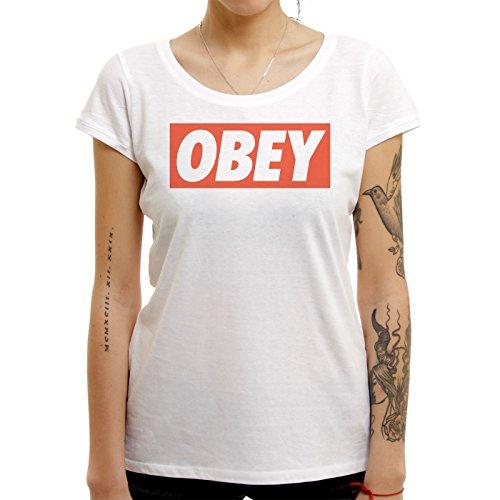 Illuminati Triangle Design Majestic Obey Most Famous Sentance Majestic Small Donne T-Shirt