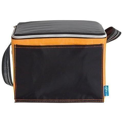 eBuy GB - Sac isotherme repas/déjeuner noir avec bordure colorée - Petit, Noir et Orange