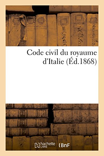 Code civil du royaume d'Italie (Sciences Sociales) par GANDOLFI-J