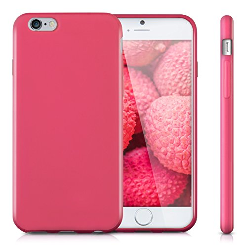 kwmobile Étui en TPU silicone élégant pour Apple iPhone 6 / 6S en rose ancien mat .rose foncé mat