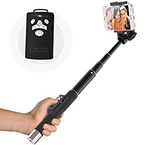 Bluetooth Selfie Stick with Multifunction - Version for iPhone 6s, 6s Plus, 6, 6 Plus,5 5c 5s 4s,LG G2, Samsung Galaxy S6 S5 S4 S3 Note 2/3/4 and Other Android Smartphones-(Controlled via an app only)