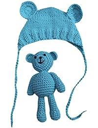 Vovotrade Conjunto Bebé Recién Nacido Fotografía Prop Foto Crochet Oso del traje del traje + Sombrero, 0-9 meses