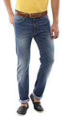 Allen Solly Mens Drop Crotch Jeans (8907308080197_ALDN515J05393_32W x 34L_Dark Blue Solid)
