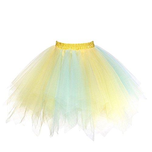 utu Unterkleid Rock Abschlussball Abend Gelegenheit Zubehör Blau und Gelb A520626120110 (Diy Halloween Kostüme Damen)