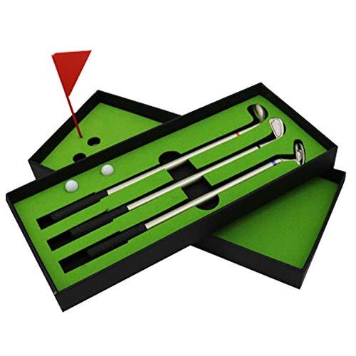 zyfu Geschenke Wohnaccessoires Creative New Mini Golf Club Putter Ball Pen Golfers Gift Box Set Desktop Decor for School Supplies Golf Accessories