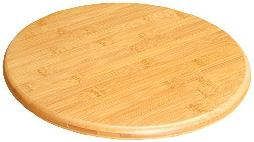 Lazy Susan Wooden Bamboo Chopping Cutting Board Kitchenware Cooking by Summit Bamboo Lazy Susan
