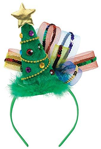 erdbeerclown - Weihnachtlicher Tannenbaum Haarreif, 20,3cm x 20 cm, (Kostüm Biker Mädchen)