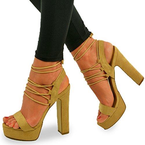 Cucu Fashion - Strap alla caviglia donna Mocha Suede