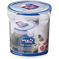 Lock & Lock Polypropylene Round Food Container, 700 ml HPL932D, Clear Blue