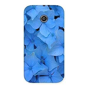 Blue Bush Flower Back Case Cover for Moto E