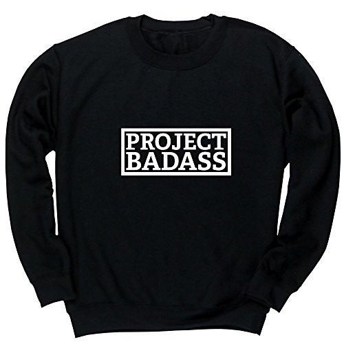 Hippowarehouse Project Badass Unisex Jumper Sweatshirt Pullover (Specific Size Guide in Description)