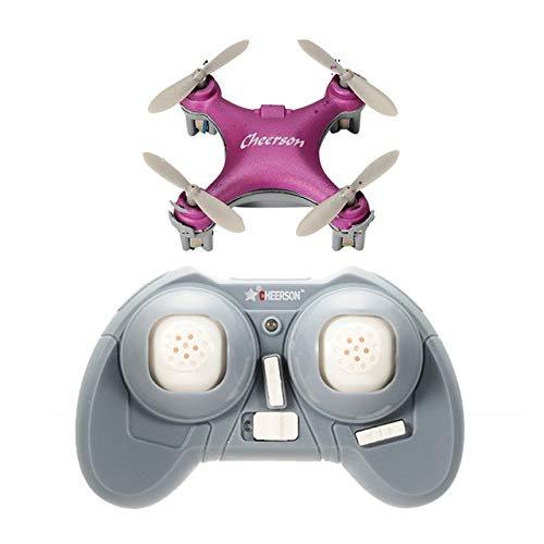 Alician Drohne Cheerson CX-10SE Mini Dron Quad Hubschrauber Tasche Drone Fernbedienung Kid Spielzeug 4CH 3D Flips RC Nano Quadcopter Hubschrauber RTF Rosa (Rtf-mini-quad)