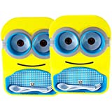 ThemeHouseParty Minions Lunch Plate Set of 2 nos Minion Tray Set Multipurpose Food Serving Plate with Bowls,Spoon &Fork for Kids for Gift for Birthday Return Gifts