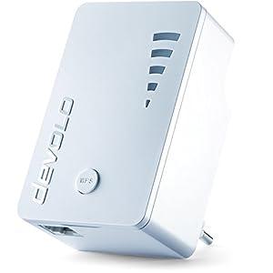 41uvN1%2BY1IL. SS300  - devolo WiFi Repeater ac (1200 Mbit/s, 1x Gigabit Ethernet LAN Port, WPS, WLAN Repeater und WLAN Verstärker, WiFi Extender, 5 stufige Signalstärkeanzeige, Accesspoint-Funktion, kompaktes Design) weiß