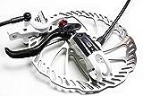 m-bikeparts Feathery Carbon Helix 7B White - Hydraulik Bremshebel, Bremssattel, Adapter, Scheiben.