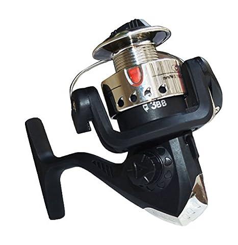 lifeyz 200Petit Métal Moulinet de pêche de roue Rock Moulinet de pêche Spinning Moulinet de pêche, argent