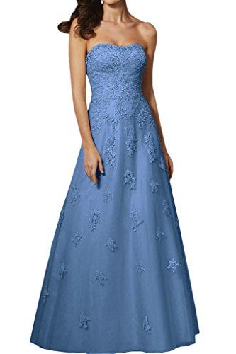 Victory Bridal - Robe - Trapèze - Femme bleu foncé