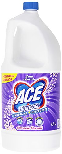 ACE - Candeggina + Detergente, Liquid Gel, Armonie Floreali - 2500 ml