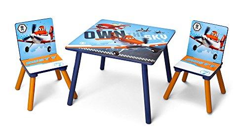 Delta TT 89453 Planes - Tavolo con 2 sedie, in MDF, 60 x 60 cm