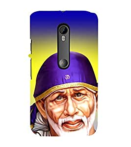 Fiobs Designer Back Case Cover for Motorola Moto G3 :: Motorola Moto G (3rd Gen) :: Motorola Moto G3 Dual SIM (Saibaba Sai Shirdi Malik)