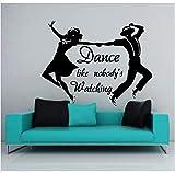 Tanz Wand Aufkleber Mädchen und Mann Tänzer tanzen Pionte Pvc Kunst Wandaufkleber Gym Pub Bar Dekor Schlafzimmer dekorative Dekoration, 150cm x 150cm