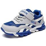 Yi Buy Scarpe da Ginnastica Bambino Scarpe Sportive per Ragazzo Ragazza Sneakers Corsa Bambina Respirabile Mesh (Blu 32 EU)