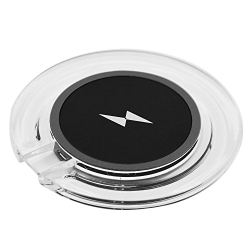 Qi kabelloses Ladegerät,Sopear Portable QI Wireless Telefon Ladegerät Lade Pad Mat für Samsung Galaxy S6 S7 S6 Rand Nokia Lumia 820 920 1020 HTC 8X Huawei W3 Schwarz und Weiß (Lade-pad Htc)