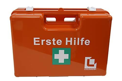 GROßER BETRIEBS VERBANDSKASTEN Erste Hilfe Koffer DIN 13169 Lüllmann Verbandkasten orange 620155