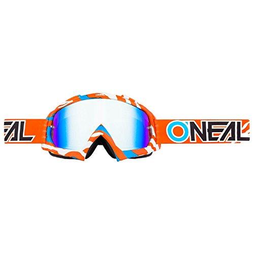 O'Neal B-10 Goggle Stream Crossbrille Radium Motocross DH Downhill MX Anti-Fog Glas, 6024-41, Farbe orange