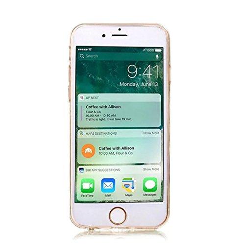 MOMDAD iPhone 7 Coque iPhone 7 TPU Souple Coque pour iPhone 7 Etui avec Art Motif Pattern Couleur Image Coque de Protection pour iPhone 7 TPU Transparente Silicone Case iPhone 7 Transparent étui Houss Firebird