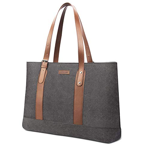 UtoteBag Damen 15,6 Zoll Laptoptasche Schultertasche Handtasche Tote Bag Frauen Business Aktentasche Leicht Segeltuch Businesstasche Notebooktasche für Laptop/Notebook/MacBook