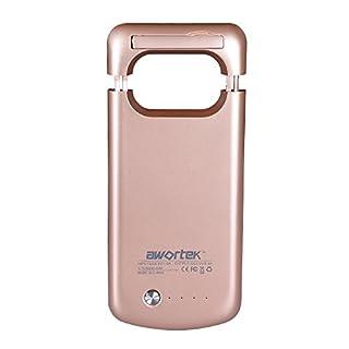 awortek 7000mAh Akkuhülle Hüllecase Batterie Akku Case Cover Hülle etui Zusatzakku Power Pack Externer Akku power bank für Samsung Galaxy s7 edge (s7, Gold)