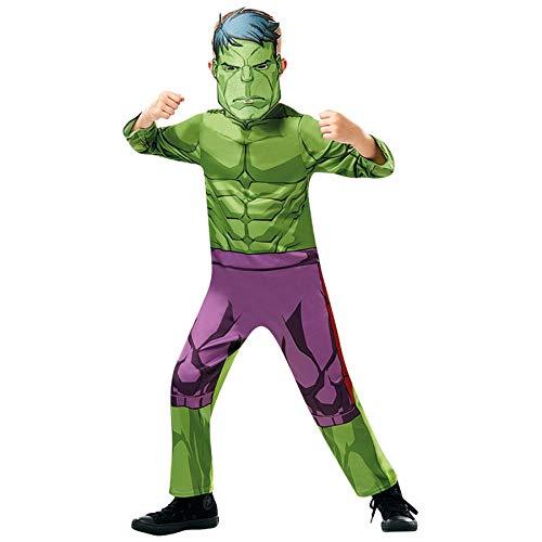 Superman Farbe Kostüm - Idealtrend Superhelden Kostüm Kinder Avengers Batman Superman Fasching Karneval Cosplay: Farbe: Avengers Hulk | Größe: 98 (T)