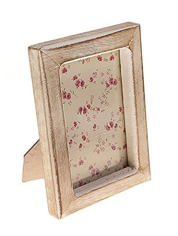RJB Stone - Single Portrait Photo Frame - White Wood Effect