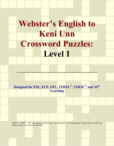 Webster's English to Keni Unn Crossword Puzzles: Level 1