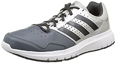 adidas Men's Duramo Trainer Grey, Black and Silver Leather Sport Running Shoes - 10.5 UK