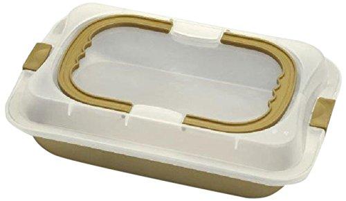 Bialetti - ZDCCSTK036 - Dolce Chef - Moule Rectangulaire Ouvrable avec Couvercle Hermétique à Poignée - Inox - 36 x 25 cm
