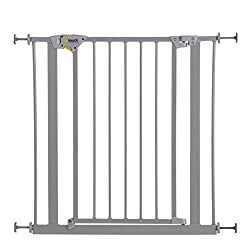 Hauck Trigger Lock Safety Gate (Silver)