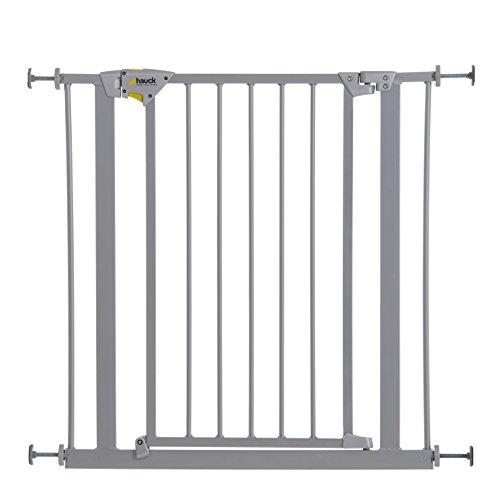 Hauck Trigger Lock - Barrera de seguridad para puertas, ancho 75-81 cm, disponibilidad de extensiones como accesorio, color gris