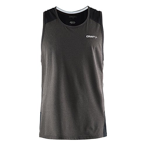 Craft - Camiseta deportiva sin mangas con espalda Racerback ligera Modelo Precise hombre caballero