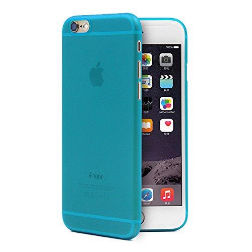 Bluecase iPhone 7 (4,7 Zoll) schwarze Hülle PP Ultra dünn Slim Case Schutzhülle Silikon Case Ultradünn Durchsichtig Transparent Matt schwarz blau