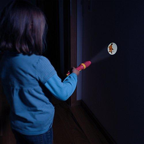 ANSMANN LED Kindertaschenlampe Projektionslampe Projektionsleuchte Mädchen pink - Lampe Projektor Geschenk für Kindergeburtstag etc. – geprüfte Materialien, hohe Kindersicherheit (Sendung mit der Maus) - 5